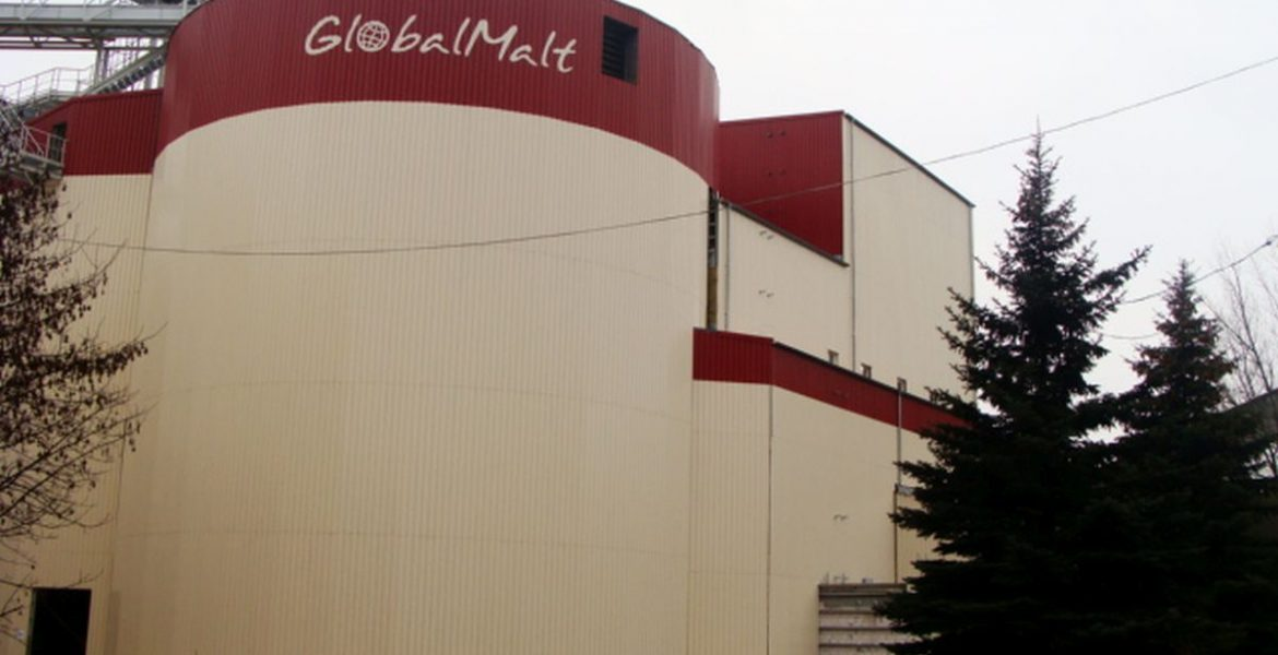 Malt drying plant